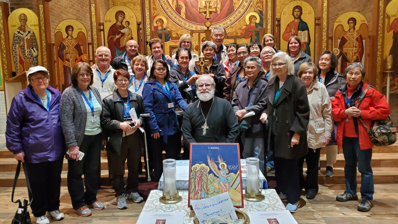 Visitors from Totally Yours Pilgrimages at the Shrine